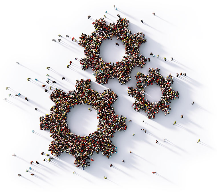 Business Resilience Human Cogs Image